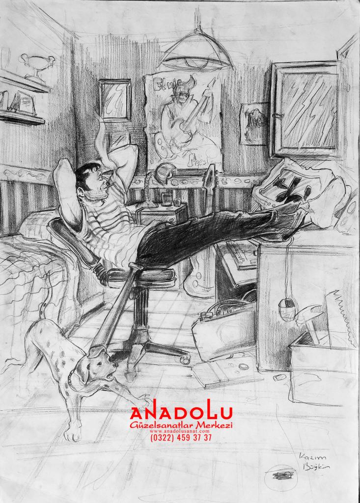Anadolu Sanat İmgesel Çizimler Çukurovada