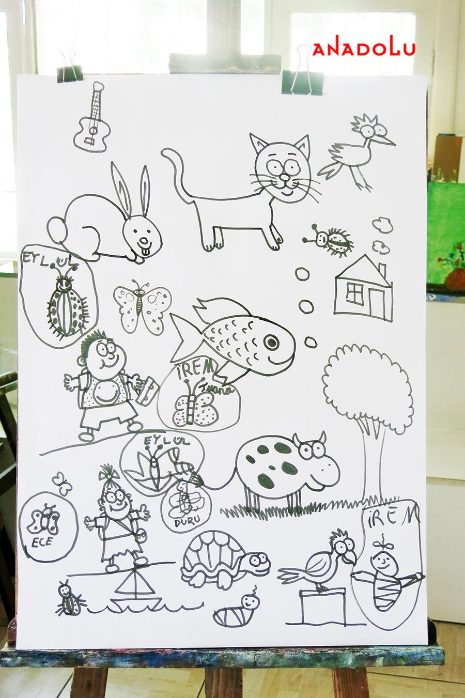 Çocuklarla Karakalem Çalışmaları Çukurovada