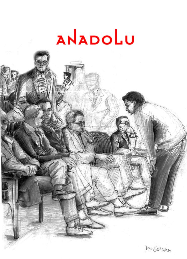 Çukurovada Karakalem Toplantı Çizimi